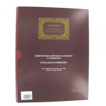 LIBRO HOJAS MÓVILES A4 100 HOJAS DIARIO Y CUENTAS ANUALES 15 ANILLAS MIQUEL RIUS