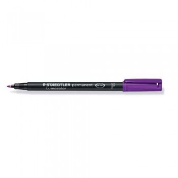 ROTULADOR PERMANENTE PUNTA F 0,6 MM VIOLETA LUMOCOLOR 318 SUPERFINO STAEDTLER