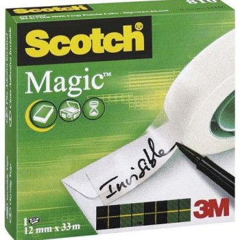 CINTA ADHESIVA INVISIBLE 33MX12 MM SCOTCH MAGIC