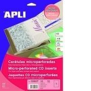 CARATULA CD A4 MATE (10 H) 200gr. APLI R.10607