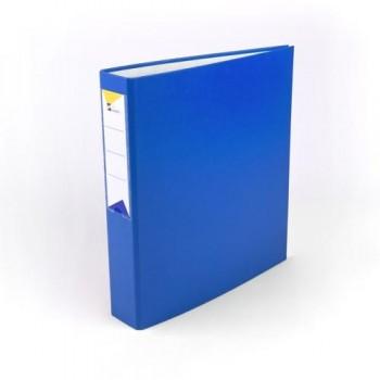 Carpeta anillas A4 4 anillas 40 mm forrado pp azul Ofiexperts