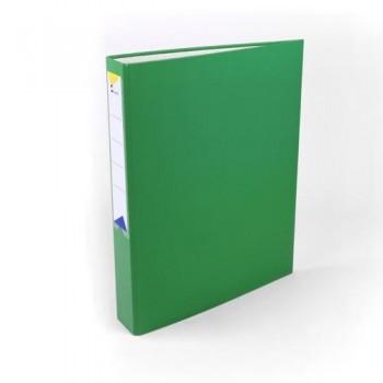 Carpeta anillas folio 2 anillas 40 mm forrado pp verde Ofiexperts