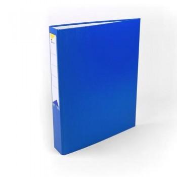 Carpeta anillas folio 4 anillas 40 mm forrado pp azul Ofiexperts