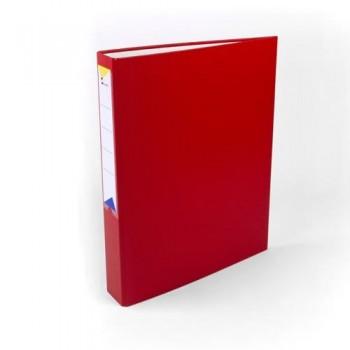 Carpeta anillas folio 4 anillas 40 mm forrado pp rojo Ofiexperts