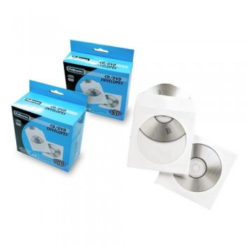 SOBRES PARA CD PAPEL (100u.) BLANCO FELLOWES R.90691