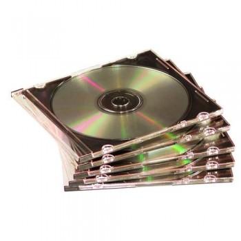 CAJA CD SLIM PAQUETE DE 25 TRANSPARENTE FELLOWES
