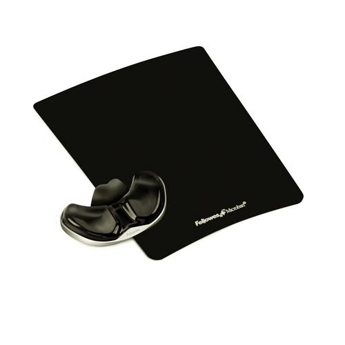 Reposamuñecas Gel deslizante con canal ergonómico Health color negro Fellowes