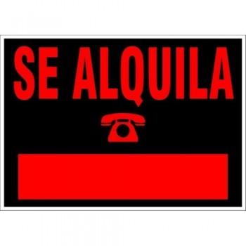 CARTEL MODELO pequeño SE ALQUILA 500X230 NEGRO ARCHIVO 2000