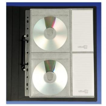 Funda Multitaladro para 4 CDs/DVDs Office Box, bolsa 5 un.