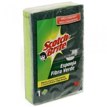 ESPONJA FIBRA VERDE SCOTCH BRITE 82X117MM