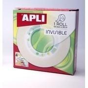 CINTA ADHESIVA 33x19 INVISIBLE EN ROLLO APLI R.11036