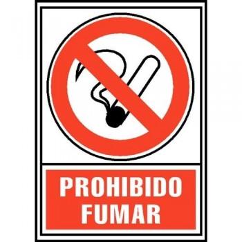 SEÑAL PVC NORMALIZADA PROHIBIDO FUMAR 210X297 ROJO ARCHIVO 2000