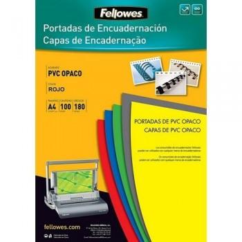 TAPA ENCUAD. A4 PVC NEGRO OPACO 180mic. FELLOWES R.5100301