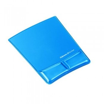 Alfombrilla con reposamuñecas de gel canal V Azul