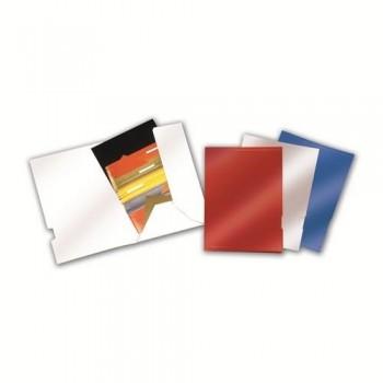 Subcarpeta EjecutIvo alto brillo Natural con bolsa lateral 325x235mm rojo