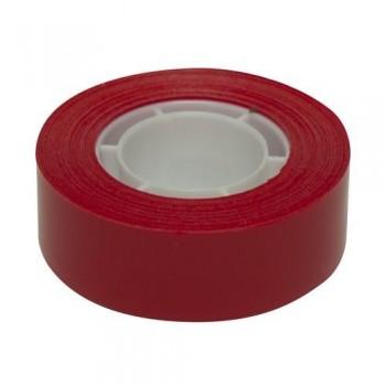 Cinta adhesiva PP en rollo 19mmx33m roja Apli