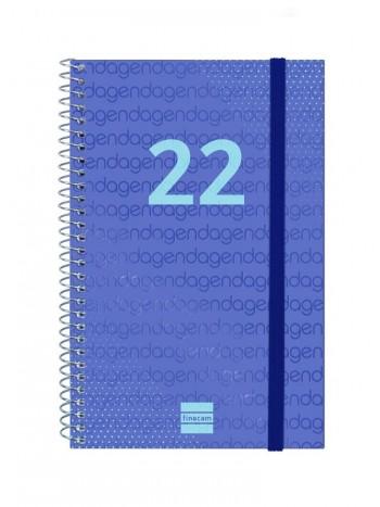 AGENDA ESPIRAL S/V E5 117X181MM YEAR AZUL CASTELLANO FINOCAM
