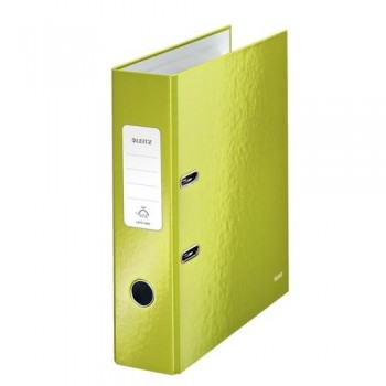 ARCHIVADOR A4 80MM. VERDE METALIZADO WOW LEITZ