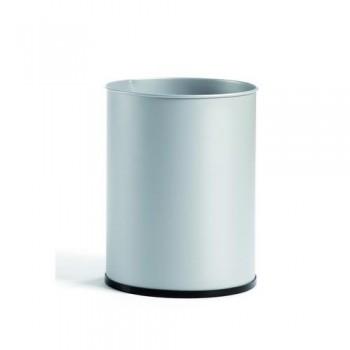 Papelera metálica 27 l. 39,5x29,5 cm. Negro.