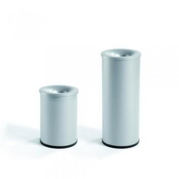 Papelera metálica ignífuga 65 x 27,5 cm. Plata.