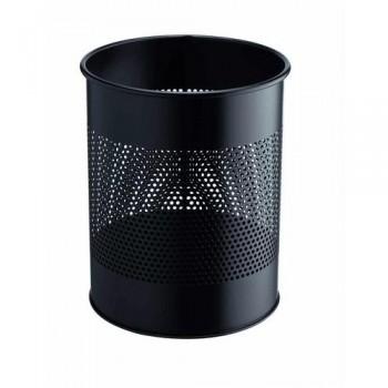 Papelera metálica redonda  15/P 165 - 15 litros - perforada Durable negra