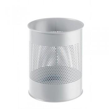 Papelera metálica redonda  15/P 165 - 15 litros - perforada Durable gris