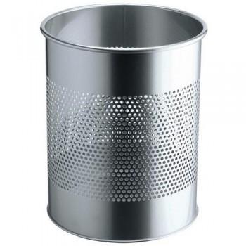 Papelera metálica redonda  15/P 165 - 15 litros - perforada Durable plateado