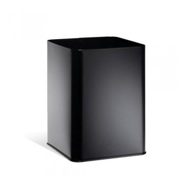 Papelera metálica cuadrada 18,5 litros negra Durable