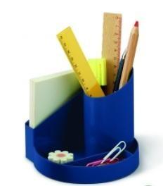 Cubilete de plastico 4 departamentos azul Faibo