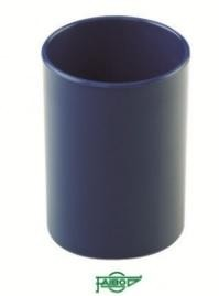 Cubilete  plástico  opaco azul  78mm 10cm alto Faibo