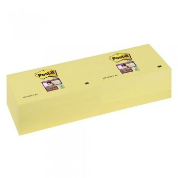NOTAS ADHESIVAS 76X127MM COLOR AMARILLO CANARIO SUPER STICKY POST-IT