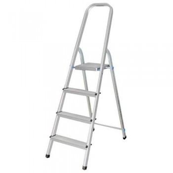 Escalera de aluminio con 4 peldaños