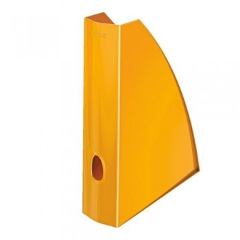 Revistero A4 Leitz WoW formato vertical lomo 60 naranja metalizado