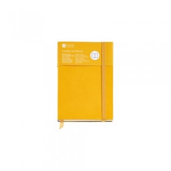 CUADERNO FLEXIBLE 8 96 HOJAS LISAS 16 MICROPERFORADAS AMARILLO SUNFLOWER CON GOMA FLEXIBLE TOP NORDIC COLOURS MR