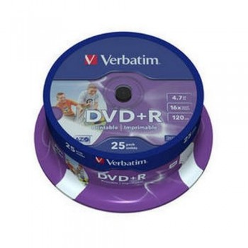 DVD +R 4.7GB 16X BOBINA 25 UNIDADES ADVANCED AZO VERBATIM