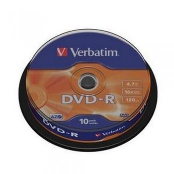 DVD -R 4.7GB 16X BOBINA 10 UNIDADES ADVANCED AZO VERBATIM