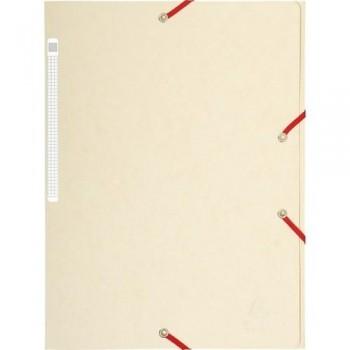 Carpeta gomas A4 3 solapas cartón marfil Maxi Capacity Exacompta