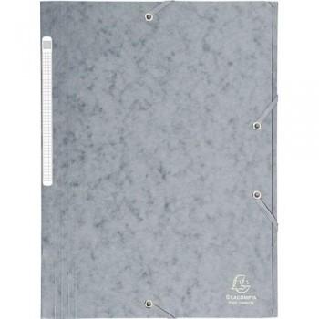 Carpeta gomas A4 3 solapas cartón gris Maxi Capacity Exacompta