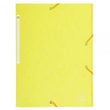Carpeta gomas A4 3 solapas cartón limón Maxi Capacity Exacompta