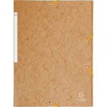 Carpeta gomas A4 3 solapas cartón marrón Maxi Capacity Exacompta