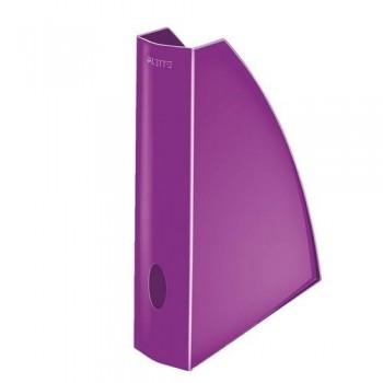 Revistero A4 Leitz WoW formato vertical lomo 60 violeta metalizado