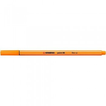 ROTULADOR PUNTA FINA 0,4MM NARANJA STABILO POINT 88