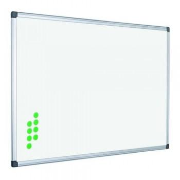 Pizarra blanca vitrificada magnética con marco de aluminio 45x60cm Rocada