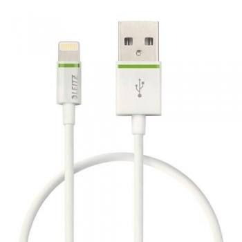 CABLE LIGHTNING APPLE A USB 30 CM BLANCO COMPLETE DE LEITZ