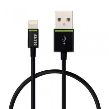 CABLE LIGHTNING APPLE A USB 30 CM NEGRO COMPLETE DE LEITZ