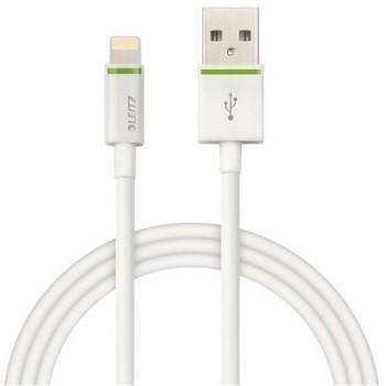 CABLE LIGHTNING APPLE A USB XL 2 M BLANCO COMPLETE DE LEITZ