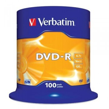 DVD -R 4.7GB 16X BOBINA 100 UNIDADES ADVANCED AZO VERBATIM