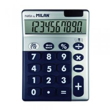 Calculadora sobremesa 10 dígitos SILVER Azul Milan