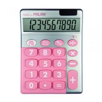 Calculadora sobremesa 10 dígitos SILVER Rosa Milan