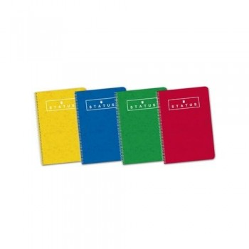 Cuadernos espiral cuarto 80 hojas 70gr. tapa Dura cuadrícula 4X4 surtido STATUS enri